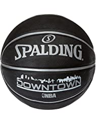 Spalding NBA Downtownblack - Pelota de baloncesto, color negro, talla 7