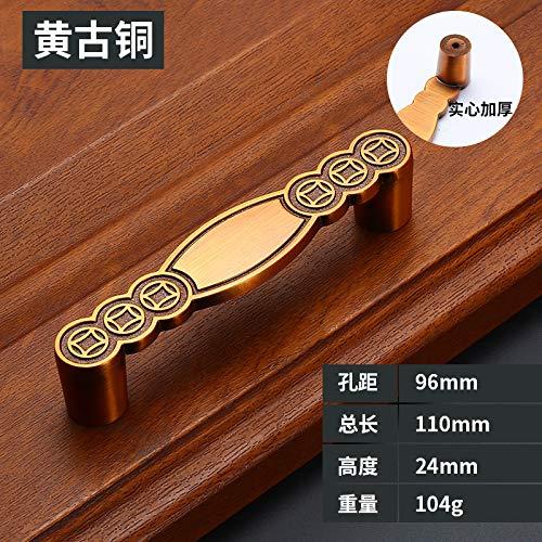 Neue Chinesische mahagoni möbel schranktürgriff antikes kupfer schubladenschrank schranktür zubehör hardware Z4053-96 - Antike Mahagoni-schreibtische