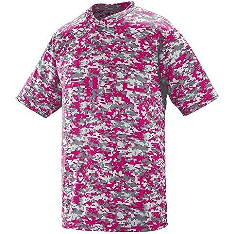 Augusta Sportswear DIGI in tessuto traspirante, da uomo, motivo mimetico, in JERSEY, 2 pulsanti
