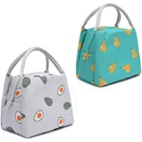 2 pcs Sac à Déjeuner Lunch Bag Protection, Sac Repas Lunch Bag, Sac Isotherme Grand Ouvert et isolé, Sac de Poche Toile…