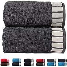Trident His & Her Colección 550 g/m² algodón Juego de toallas 2 piezas Combo, Gris