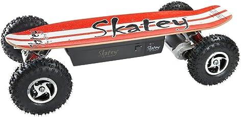 SKATEY 800W red white OFFROAD Elektrisches Longboard elektrisches Skateboard