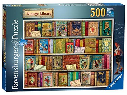 Ravensburger Puzzle de 500 piezas, diseño vintage de biblioteca