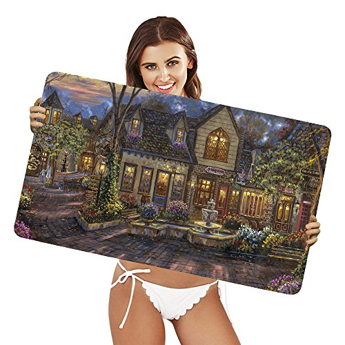 xtremepads-gaming-mouse-pad-grande-tappetino-artistic-painting-village-town-france-house-colors-