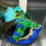 Eizur Maskerade Maske Aristokratische Pfau Gesichtsmaske Kunst Muster für Halloween Party Karneval Kostüm Cosplay Requisiten Fasching Party Verrücktes Kleid Ball -