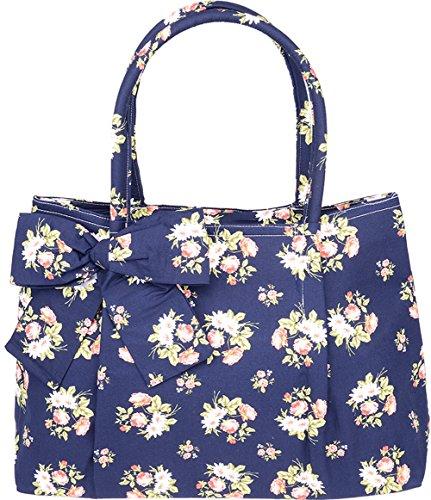 Küstenluder Damen Tasche Aleen Vintage Blüten Handtasche Mehrfarbig (Floral Rock Seitlich Mit Reißverschluss)