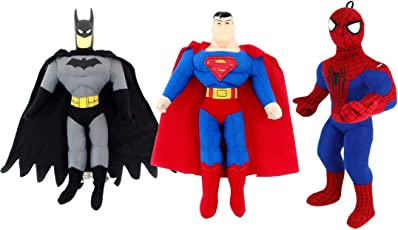 Funtoy Combo of Superhero- Superman, Spiderman and Batman Soft Toys for Kids