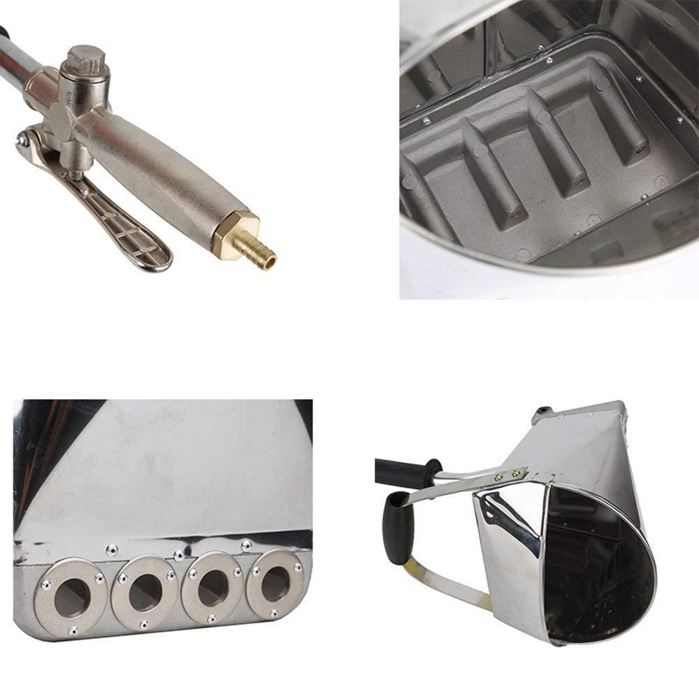 S SMAUTOP 4 Jet Yeso y Pulverizador de Estuco Pistola de Mortero de Cemento Neum/ática Con Cubierta,Rociador de Mortero Para Pintar Paredes o Techos