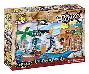 COBI- Juego de construcción, The Pirate Bay, Color Verde, marrón, Gris, Azul (6014)