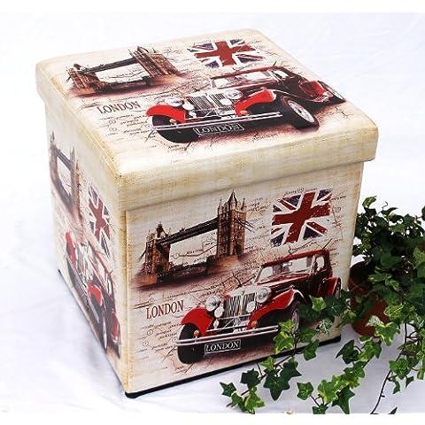 Sgabello in similpelle Seduta-sgabello 2219 Pacco d'imballaggio 40cm Cubo-seduta Cassa Cesto