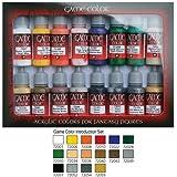 Vallejo 72299 Akrylfärger, Paket med 16 x 17 ml