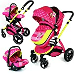 i-Safe System - MEA Lux Trio Travel System Pram & Luxury Stroller 3 in 1 Complete with Car Seat