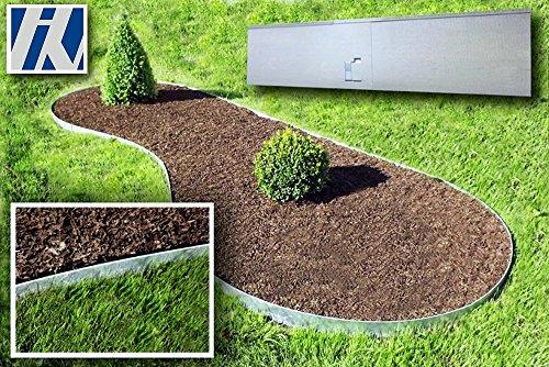 *Rasenkante, Beeteinfassung und Wegbegrenzung Metall feuerverzinkt 120×13,5cm 5er Set (5,72m)*