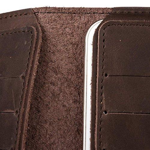 Portefeuille en cuir véritable étui housse pour Wiko Jimmy Brun - peau Marron - marron