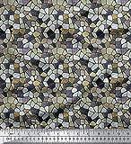 Soimoi 58 Zoll breit Gewebe Rayon Viscose-Mosaik-Druck 115