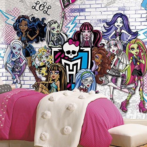 RoomMates jl1328m Ultra | Monster High XL Stuhl Schiene Ziegelsteinwand Wandbild, druckknopfstiel X 10.5-feet