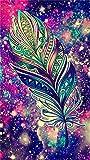 Sunnay Diamond Painting, Lily Blume 5D Diamant Stickerei Full Drill Phantom Schmetterlinge DIY Dekoration Malerei Kreuzstich Kit (Feder Sternenhimmel, 30 * 40cm)