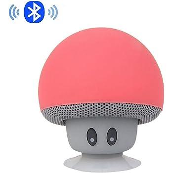 99cda47687009 ipuis Mini tragbarer Stereo Bluetooth Lautsprecher mit wasserdichtem Pilzes  Entwurf Handfrei-Mikrofon und Saugnapf - Rot