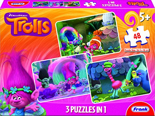 Frank 3 in 1 Trolls, Multi Color (48 Pieces)