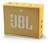 JBL Go - Altavoz portátil para smartphones, tablets y dispositivos MP3 (Bluetooth, recargable, entrada AUX), color amarillo