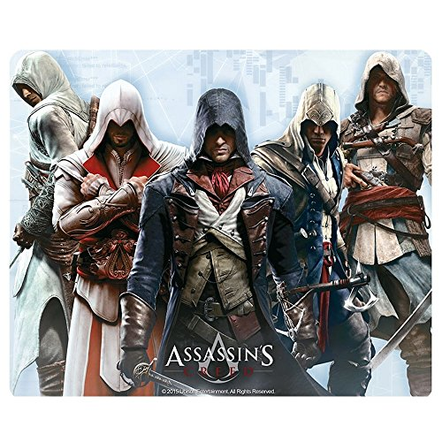 Assassins Creed - Mausmatte Mauspad - Altair, Ezio, Connor, Edward, Arno - 23 x 19 cm (Origin Kostüm)