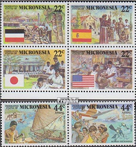 Mikronesien 83-88 Viererblock und Paar (kompl.Ausg.) 1988 Kolonialgeschichte (Briefmarken für Sammler)