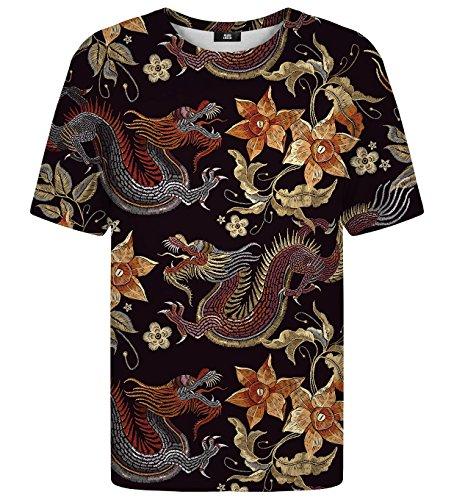 Mr. Gugu & Miss Go Hombre Mujer Camiseta Estampada Japanese Dragon (XXL)