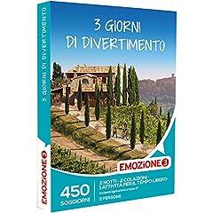 Idea Regalo - Emozione3 - Cofanetto Regalo - 3 Giorni di Divertimento! - 450 possibilità per Vivere 3 Giorni con attività di Svago