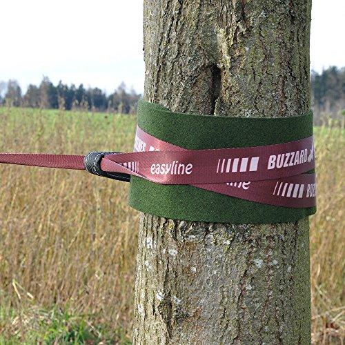 Buzzard Easy-Line Slackline-Set, 15 m lang, 5cm breit + Baumschutz - 5