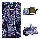 YOKIRIN Funda para Samsung Galaxy Note 3 Material PU cuero (Carcasa interior TPU) Elefante estilo tribal de Patrones Pistolera de Teléfono Cierre magnético