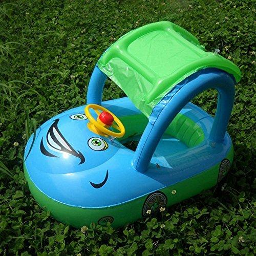 WISHTIME Baby Aufblasbarer Schwimmen Ring Schwimmsitz Sommer Party Strand Spielzeug Schwimmen Ring Kleinkind Hilfsmittel Sitz Boot mit einer Abdeckung (Car Cartoon)