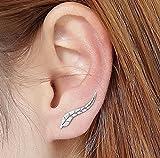 VJGOAL Damen Ohrringe, 1 Paar Frauen Mädchen Mode Metall Blatt Ohrringe Ohrclip Valentinstag Frau Geschenk (Gold)