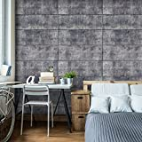 murando - Fototapete 350x256 cm - Vlies Tapete - Moderne Wanddeko - Design Tapete - Wandtapete - Wand Dekoration - Beton 3D Loft f-C-0116-a-b