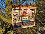 Insect Hotel with Feeder and Box Bark/Natural...