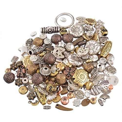 Souarts Schmuckteile Gemischte Acrylperlen Spacer Beads Kugel Schmuckperlen Zubehoer Zum Basteln 100g Mix