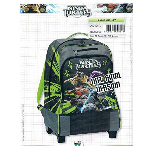 Zaino Xrolley 'all in One' in tessuto poliestere 32x44x22 cm Ninja Turtles