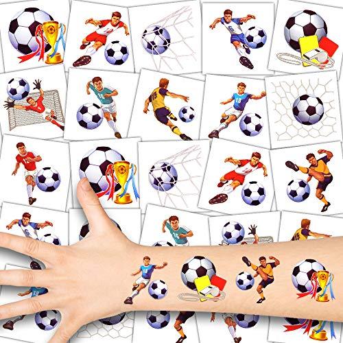 German Trendseller - 36 x Fútbol Niños Tatuajes - Conjunto - Futbolista┃Nuevo┃Cumpleaños Niños┃Regalito┃Fútbol Fiesta┃36 Tatuajes