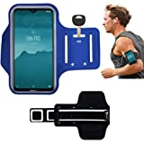 EARPHONE-KEY HOLDER-EXTENSION STRAP-SWEAT FREE DN-Technology Sports Running Armband Case For Nokia 2.2//Nokia 5.2// Nokia 8.1 Plus//Nokia 6 2019// Nokia 4.2//Nokia 3.2//Nokia 7.1//Nokia 5.1//Nokia 3.1//2.1