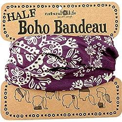 Natural Life Boho Bandeau - Bandana para mujer, color violeta, talla M