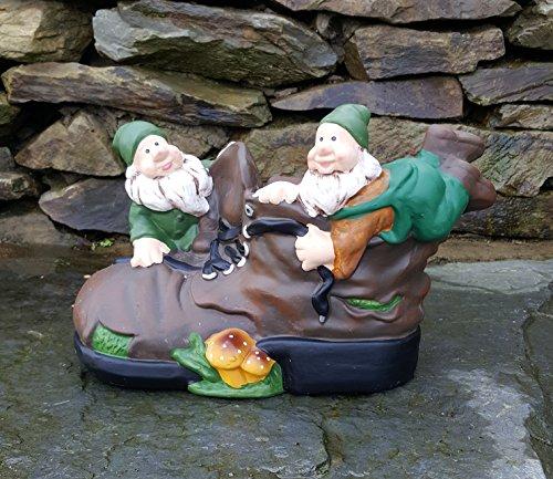 Garden Gnome (Keramik Forest Gnome mit, Outdoor/innen, Garden Ornaments handbemalt)