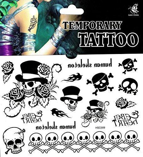 Fake Tattoo Einmal-Tattoo totenkopf tattoo totenschädel tattoo (Fake-tatoo)