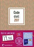 Code civil 2017 - Jaquette graphik rouge: Version Ebook incluse.