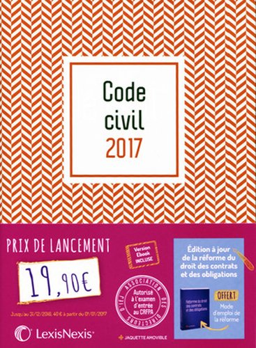 Code civil 2017 - Jaquette graphik rouge: Version Ebook incluse.