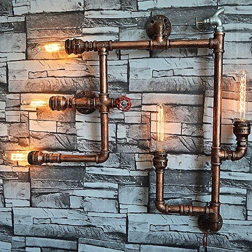 Pumpink Retro Eisen Wasser Rohr Wand Laterne Wand Lampe Europäische Antique Home Zubehör Wandleuchte Wand Sconce Bar Restaurant Hotel Lighting Wall Spotlights -