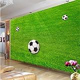 Benutzerdefinierte Tapete Wandbilder Grüner Rasen Fußballplatz Tapete Für Wohnzimmer Schlafzimmer Wände 3D Wandbild Wanddekor Moderne Wandverkleidung