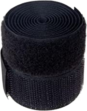 Generic Nylon Adopted Yard Sew-on Hook and Loop Tape ,Size(1,1)-Inch,(E_15004864, Black)