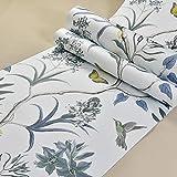 Omar-Clare Pays rétro style rural fleurs et oiseaux respectueux de l'environnement non-tissé papier peint chambre salon TV fond papier peint stickers muraux