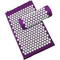 Akupressurmatratze und Kissen für Entspannung, Anti-Stress, Energie - purpurrote Farbe preisvergleich bei billige-tabletten.eu
