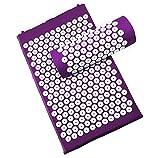 Akupressurmatratze und Kissen für Entspannung, Anti-Stress, Energie - purpurrote Farbe