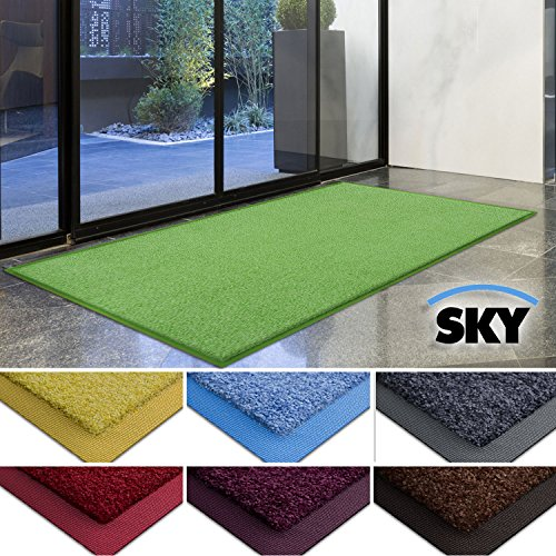 casa-pura-dirt-trapper-barrier-mat-with-matching-rubber-edge-green-85-x-150cm-non-slip-absorbent
